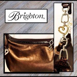 Gorgeous Brighton Bronze Heart-Link Bag